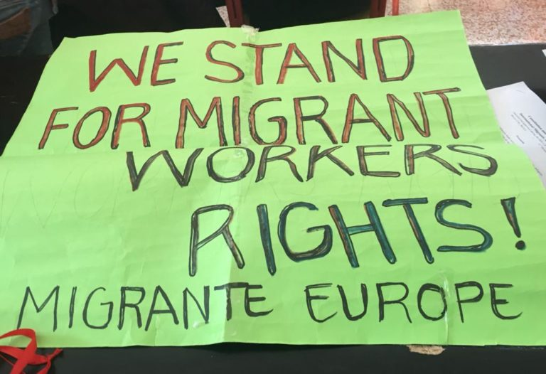 Migrants, refugees and displaced peoples in Europe stand united!