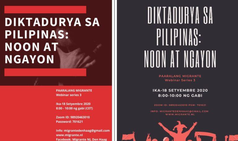 Paaralang Migrante Webinar: Diktadurya sa Pilipinas noon at ngayon
