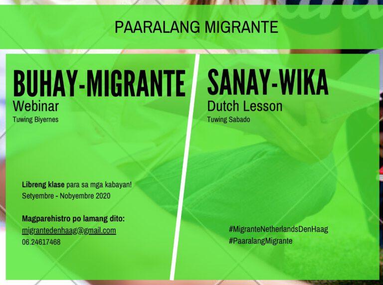 Paaralang Migrante: Talk Politics, Learn Dutch
