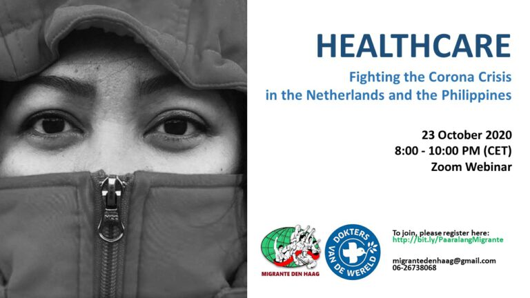 Paaralang Migrante: Webinar on Healthcare and Fighting the Corona Crisis in the Netherlands and the Philippines