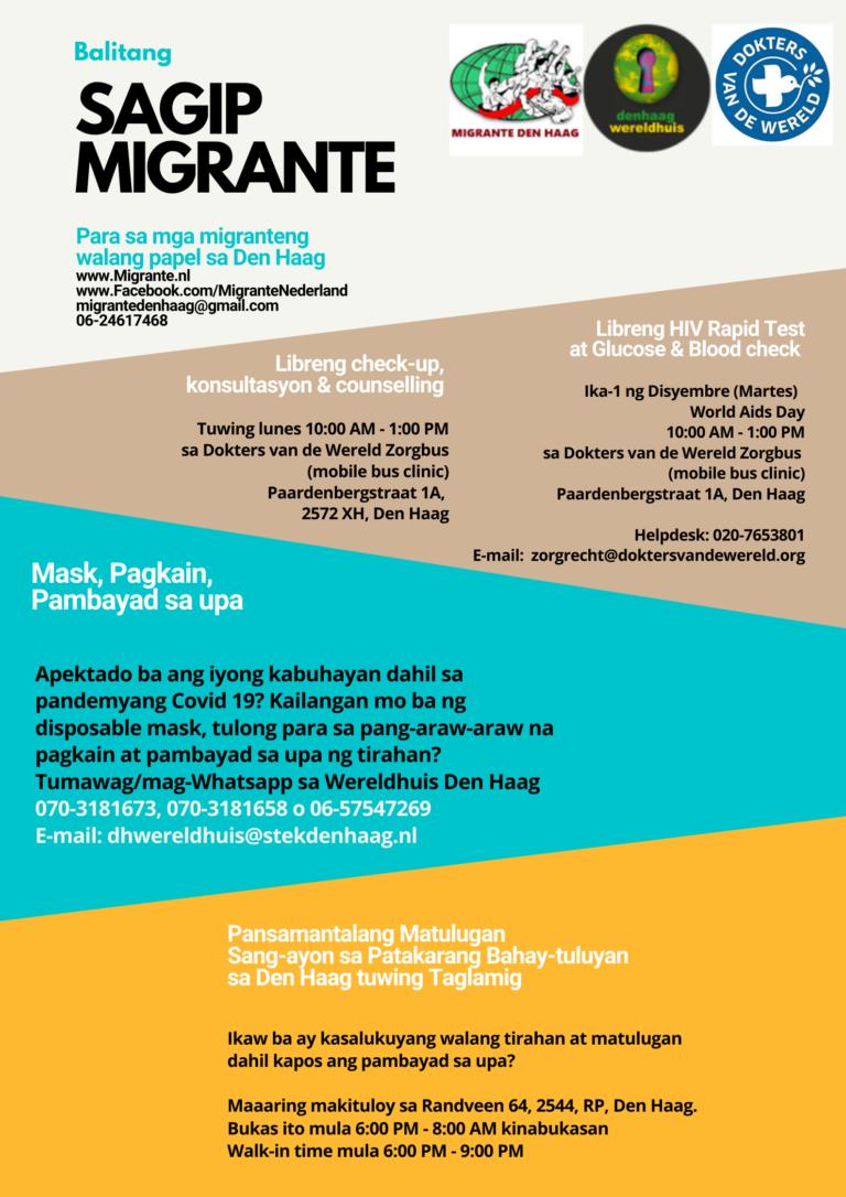 Balitang Sagip Mirante para sa mga walang papel sa Den Haag