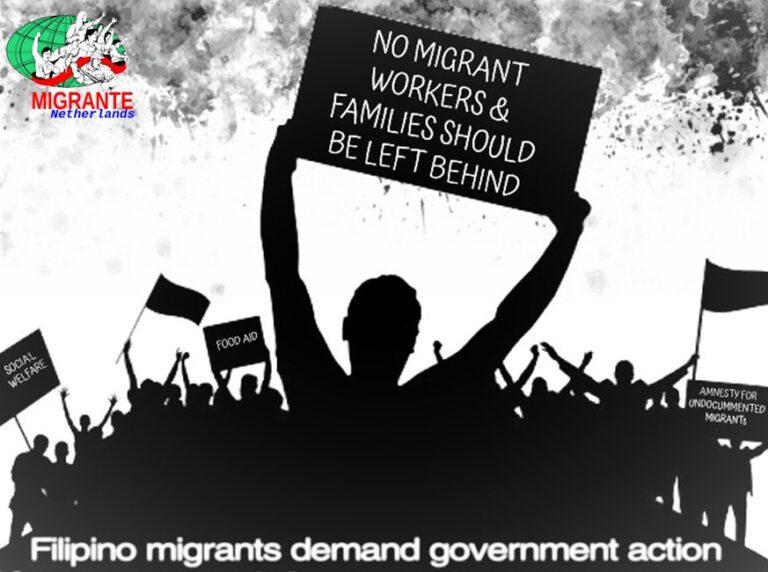 """Pahayag ng Migrante Netherlands Den Haag Hinggil sa """"Hard Lockdown"""" sa Netherlands"""