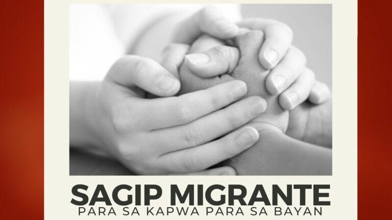 Sagip Migrante: Para sa Kapwa, Para sa Bayan